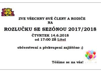 ROZLOUČENÍ SE SEZÓNOU 2017/2018